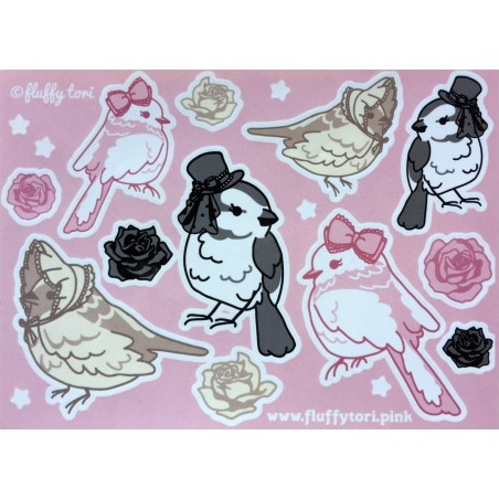 Lolita Birds Stickers